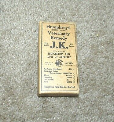 Humphrey Homeopathic Veterinary Remedy Indigestion Appetite Medicine Container