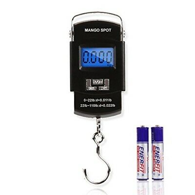 LCD Electronic Balance Digital Fishing Hook Hanging Scale AAA Batteries Included