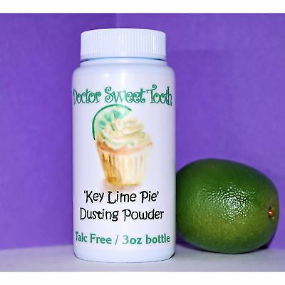 KEY LIME PIE Scented Body Dusting Powder by Doctor Sweet Tooth TALC FREE 3oz