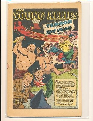 Young Allies Comics # 12 - Classic decapitation story coverless