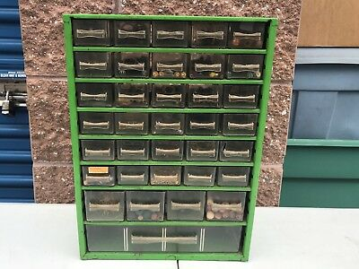 Vintage Metal 35 drawer storage cabinet organizer with Jewelry Supplies