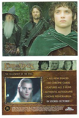 2004 Lord Of The Rings Trilogy Chrom Promo Karte #P1
