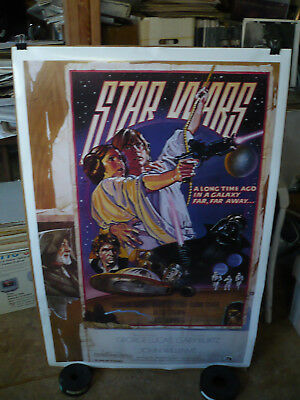 """STAR WARS - A NEW HOPE orig rolled 1992 1-Sh """"D""""/ 15th Anniversary movie poster"""