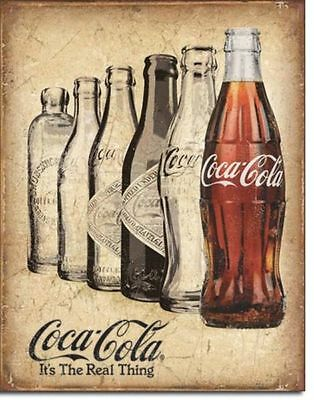Blechschild Coca Cola  Real Thing USA Soft Drink Nostalgie Coke Retro Werbung