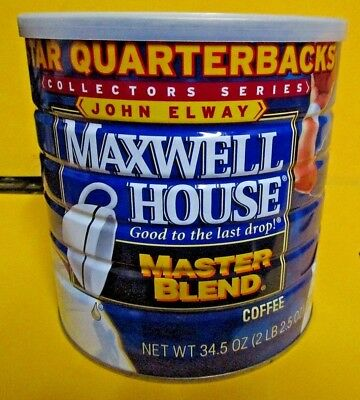 John Elway Maxwell House Coffee Can Quarterbacks Series Denver Broncos UNOPENED