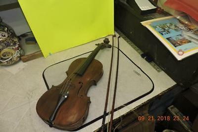 Antique Full Violin Made in Nippon Japanese Violin with Marked Louis Bow