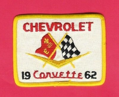 Chevrolet Automobile Patch 1962 Corvette 3in x 4in Chevy