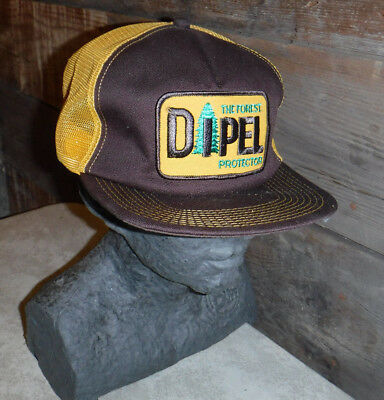 Vintage 1970's Dipel The Forest Protector Trucker Snapback Hat Made In Usa L@@k