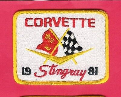 Chevrolet Automobile Patch 1981 Corvette Stingray 3in x 4in Chevy