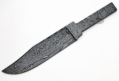 Clip Point Damascus Skinning Blank Blade Tang Knife Knives Making High Carbon