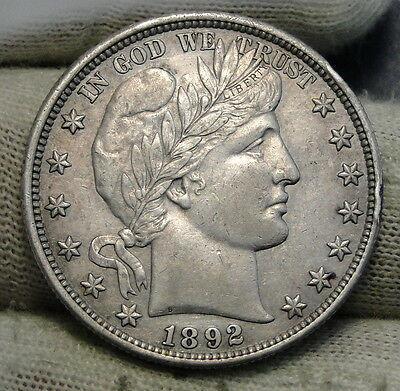 1892 Barber Half Dollar 50 Cents - Key Date 934,000 Minted, Very Nice Coin(6322)