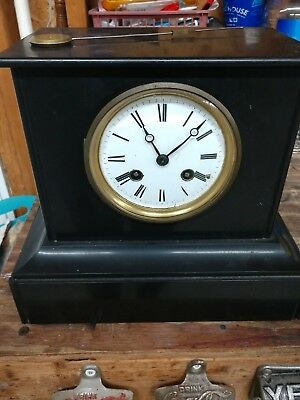 Antique 1800's Japy Fils Slate French Mantle Clock Works