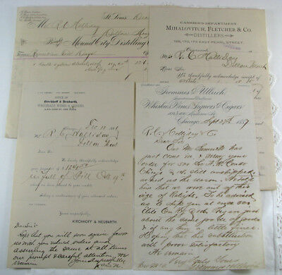 neat group! 4 DIF WHISKEY paper items to DILLON, MONTANA R. C. Halliday & Co.