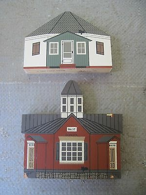2 Octagonal School Cat's Meow Wood Collectible Pcs., 1 located in Dover,DE