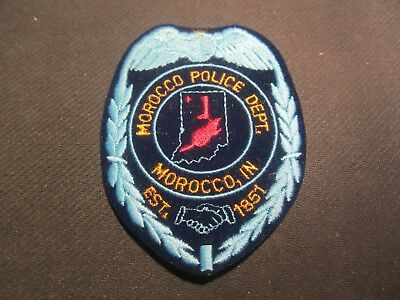 Morocco Ind Police  Patch