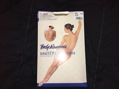 Body Wrappers total stretch tights Convertible Foot Adustable ADULT Small/Medium