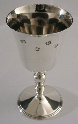 SUPERB SOLID STERLING SILVER GOBLET CHALICE 1969 HEAVY 171g ENGLISH
