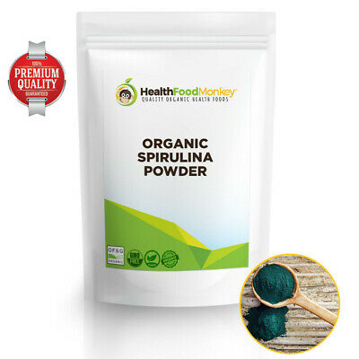 Organic Spirulina Powder Detox Cleanse Protein Energy Immunity Boost Superfood