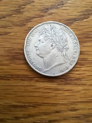 1823 Halfcrown - George IV / IIII British Milled Silver Coin, Half Crown