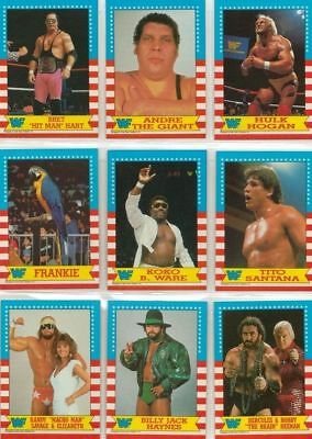 WWF Wrestling Featuring WrestleMania III Full 75 Card Base Set from Topps