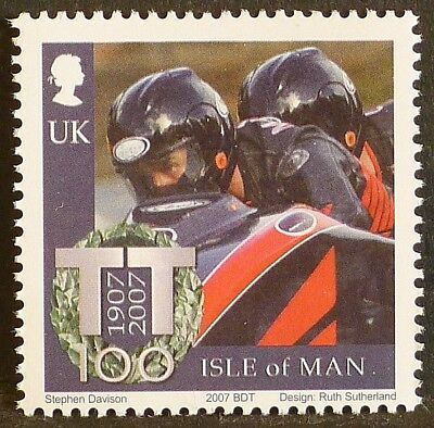 Dave Molyneux at Isle of Man TT Races on 2007 stamp - unmounted mint
