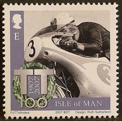Bob McIntyre at Isle of Man TT Races on 2007 stamp - unmounted mint