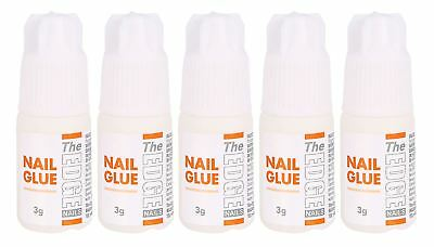 The Edge Nail Adhesive Glue 3g 5 pack strong tips false nails extensions