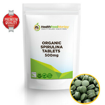 Organic Spirulina Tablets 500mg (Certified Organic) *OFFER* Weight Loss Immunity