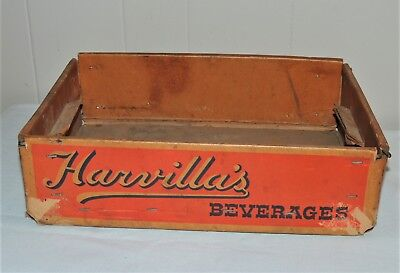 Harvilla's Beverages Minersville PA 24 Bottle Crate Box Carrier