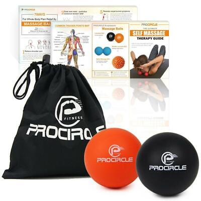 PROCIRCLE Massage Lacrosse Balls for Self-myofascial Release Therapy Muscle K...