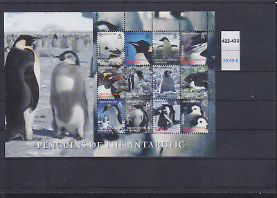 066439 Pinguine Penguins British Antarctic Territory 422-33 ** MNH Year 2006