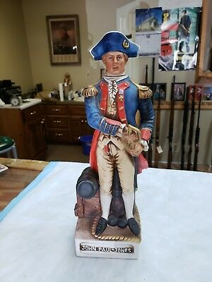 McCormick Distilling Company Porcelain Decanter John Paul Jones EMPTY