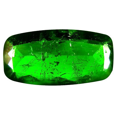 11.39 Ct AAA Beau Coussin Forme (22 X 11 mm) Vert Chrome Diopside