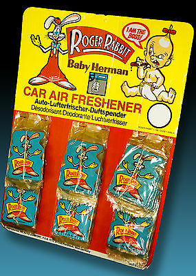 Roger Rabbit 36 Auto Lufterfrischer Display 1987 Disney Vint. Car Air Freshener