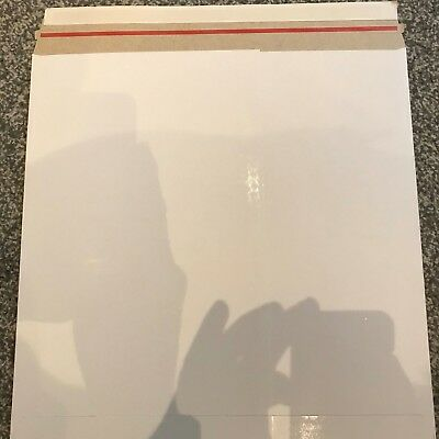 """100 X 12"""" Lp New Budget 490 Micron White Peel & Seal Record Mailers Free 24H Del"""