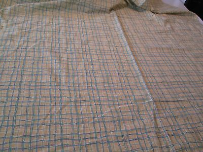 """Decorator Quilting Drapes Curtains Fabric Yellow Blue Lavender Check 7 Yds 30"""""""