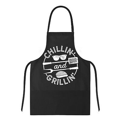 Cookout Apron Chillin And Grillin Tshirt Funny Outdoor Summer BBQ Smock For