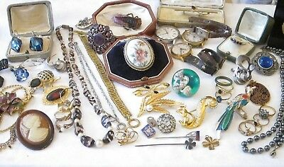 Mixed Lot of Antique & Vintage Jewellery/Silver/9ct Ring ++++