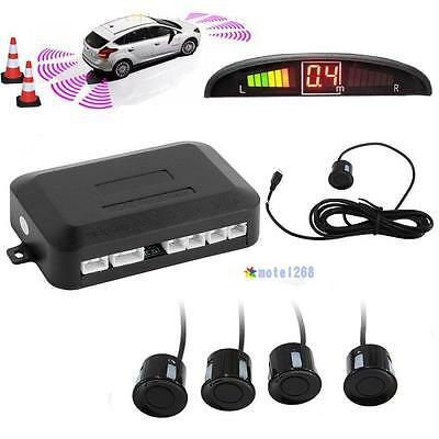 Parking 4 Sensors Car Reverse Backup Rear Buzzer Radar System Kit Sound Alarm GA