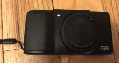 Pre-Owned Ricoh GR II 16.2MP APS-C Camera - Black with  Extra batteries