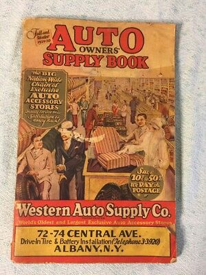 VINTAGE Auto Owners Supply Book Advertising 1929-30