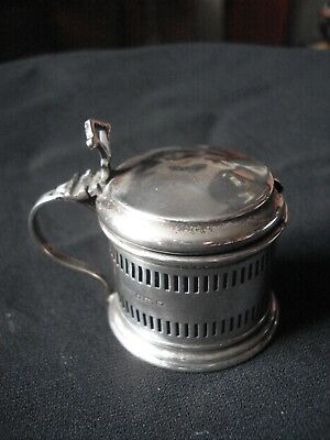 1899 Hm Silver Mustard Pot + Liner  By R & S