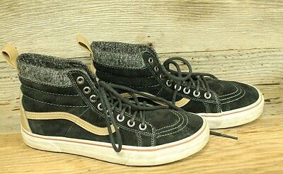 b0dce8bf444 Vans Off The Walls Scotchguard Mens Black Suede High Top Sneakers shoes Sz  9.5