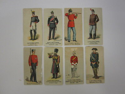 Vintage Illustrated Sweet Caporal Military Tobacco Cigarette Cards 8 pc lot