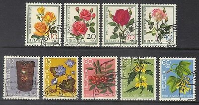 Switzerland 1972-5 semi-postal.2 sets.Sc.B410-3 & 434-8.