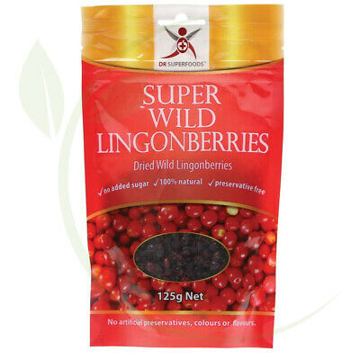 Dr Superfoods Super Wild Lingonberries 125g