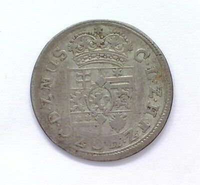 Hesse-Cassel 1693-Ivf Silver 1/8 Thaler -German State- Nearly Extremely Fine