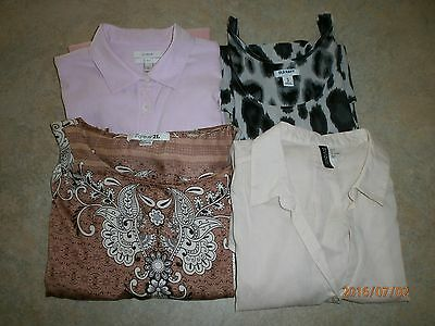 Junior's S, XS, & 4 blouse four pc lot, J Crew, Dividend, Forever 21, ON, EUC