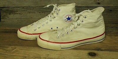 77092095951a CONVERSE ALL STAR CHUCK TAYLOR VINTAGE 70s MENS WHITE CANVAS HIGH TOP SHOE  SZ 8