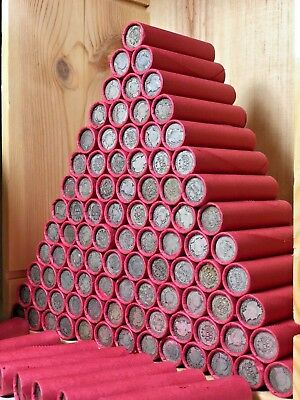 $ Red Vintage Silver Barber Dime Roll Old Us Coins Dimes Collection Estate Sale$